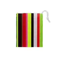 Stripe Background Drawstring Pouches (Small)