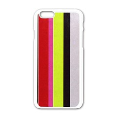Stripe Background Apple iPhone 6/6S White Enamel Case