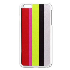 Stripe Background Apple iPhone 6 Plus/6S Plus Enamel White Case