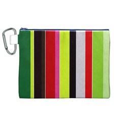Stripe Background Canvas Cosmetic Bag (XL)