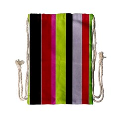 Stripe Background Drawstring Bag (Small)