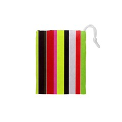 Stripe Background Drawstring Pouches (xs)