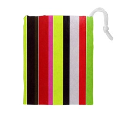 Stripe Background Drawstring Pouches (Extra Large)
