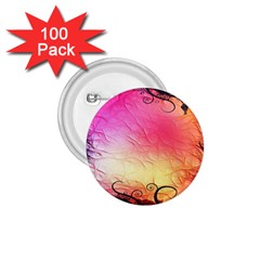 Floral Frame Surrealistic 1 75  Buttons (100 Pack)