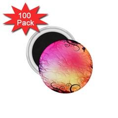 Floral Frame Surrealistic 1.75  Magnets (100 pack)