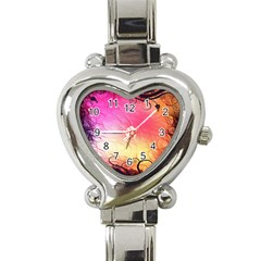 Floral Frame Surrealistic Heart Italian Charm Watch