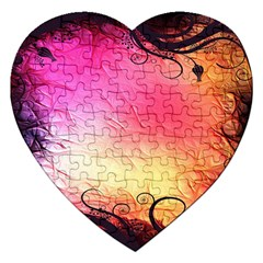 Floral Frame Surrealistic Jigsaw Puzzle (heart)