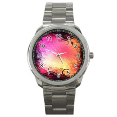 Floral Frame Surrealistic Sport Metal Watch