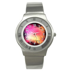 Floral Frame Surrealistic Stainless Steel Watch