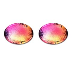 Floral Frame Surrealistic Cufflinks (oval)