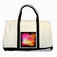 Floral Frame Surrealistic Two Tone Tote Bag
