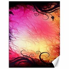 Floral Frame Surrealistic Canvas 18  x 24