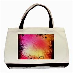 Floral Frame Surrealistic Basic Tote Bag (Two Sides)