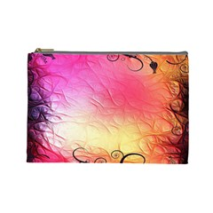 Floral Frame Surrealistic Cosmetic Bag (Large)