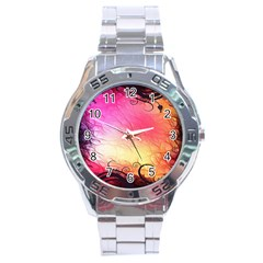 Floral Frame Surrealistic Stainless Steel Analogue Watch