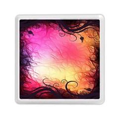 Floral Frame Surrealistic Memory Card Reader (Square)