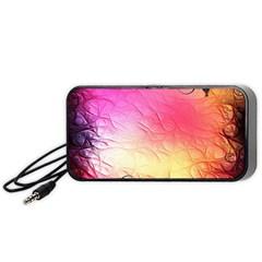 Floral Frame Surrealistic Portable Speaker (black)