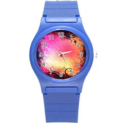 Floral Frame Surrealistic Round Plastic Sport Watch (S)