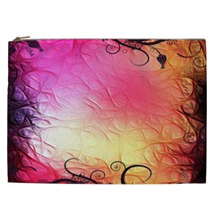 Floral Frame Surrealistic Cosmetic Bag (XXL)