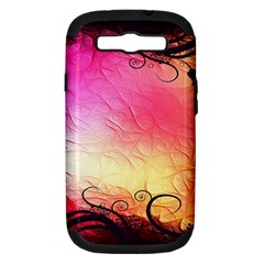 Floral Frame Surrealistic Samsung Galaxy S III Hardshell Case (PC+Silicone)
