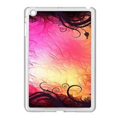 Floral Frame Surrealistic Apple iPad Mini Case (White)