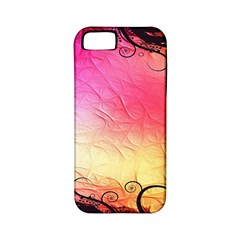 Floral Frame Surrealistic Apple iPhone 5 Classic Hardshell Case (PC+Silicone)