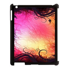 Floral Frame Surrealistic Apple iPad 3/4 Case (Black)