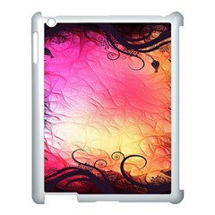 Floral Frame Surrealistic Apple iPad 3/4 Case (White)
