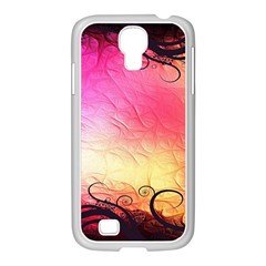 Floral Frame Surrealistic Samsung Galaxy S4 I9500/ I9505 Case (white)