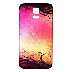 Floral Frame Surrealistic Samsung Galaxy S5 Back Case (white)