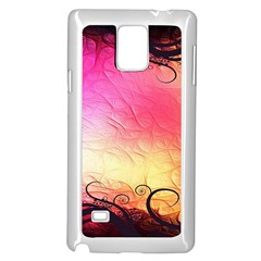 Floral Frame Surrealistic Samsung Galaxy Note 4 Case (White)