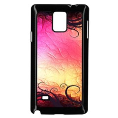 Floral Frame Surrealistic Samsung Galaxy Note 4 Case (Black)