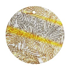 Abstract Composition Digital Processing Ornament (Round)