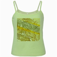 Abstract Composition Digital Processing Green Spaghetti Tank