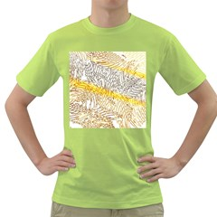 Abstract Composition Digital Processing Green T-Shirt