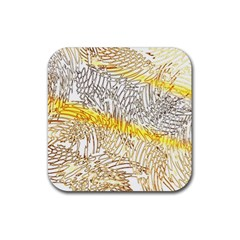 Abstract Composition Digital Processing Rubber Square Coaster (4 pack)