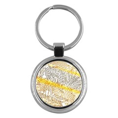 Abstract Composition Digital Processing Key Chains (round)