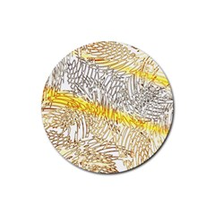 Abstract Composition Digital Processing Rubber Round Coaster (4 Pack)