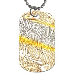 Abstract Composition Digital Processing Dog Tag (one Side)