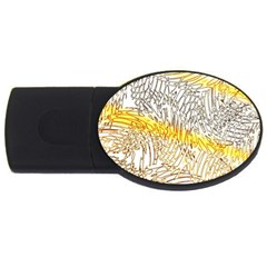 Abstract Composition Digital Processing USB Flash Drive Oval (1 GB)