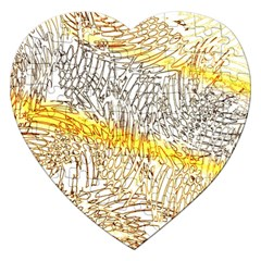 Abstract Composition Digital Processing Jigsaw Puzzle (Heart)