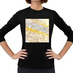 Abstract Composition Digital Processing Women s Long Sleeve Dark T-Shirts