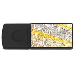 Abstract Composition Digital Processing USB Flash Drive Rectangular (4 GB)