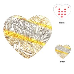 Abstract Composition Digital Processing Playing Cards (Heart)