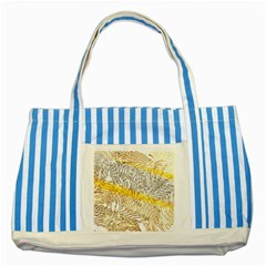 Abstract Composition Digital Processing Striped Blue Tote Bag