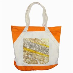 Abstract Composition Digital Processing Accent Tote Bag