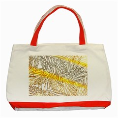 Abstract Composition Digital Processing Classic Tote Bag (Red)