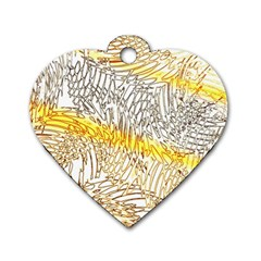 Abstract Composition Digital Processing Dog Tag Heart (Two Sides)