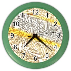 Abstract Composition Digital Processing Color Wall Clocks
