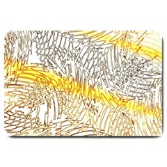 Abstract Composition Digital Processing Large Doormat